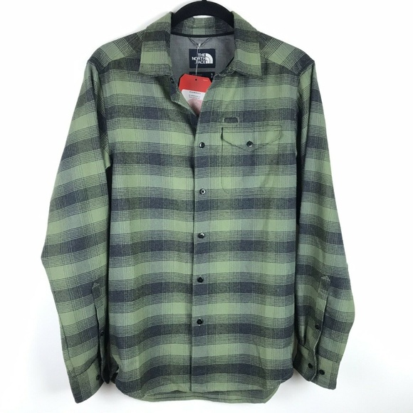eab5a0187 The North Face Thermocore Long Sleeve Green Black NWT